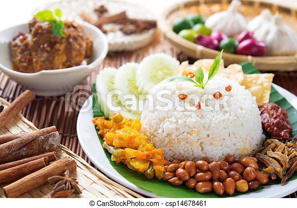Malaysia food nasi lemak - csp14678461