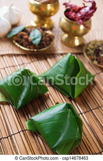 Popular Malaysia food nasi lemak - csp14678463