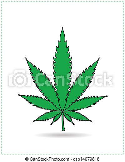 Clip art vecteur de cannabis feuille isol sur blanc csp14679818 recherchez des images - Dessin feuille cannabis ...