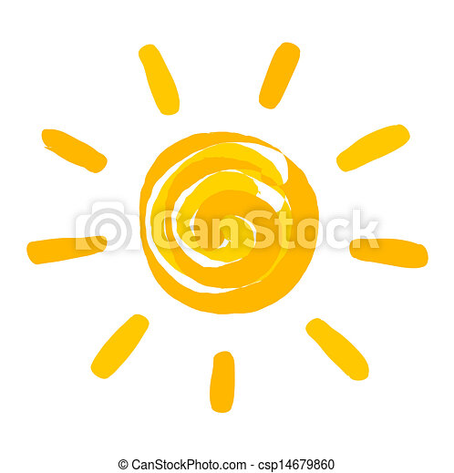 Sun painted illustration - csp14679860