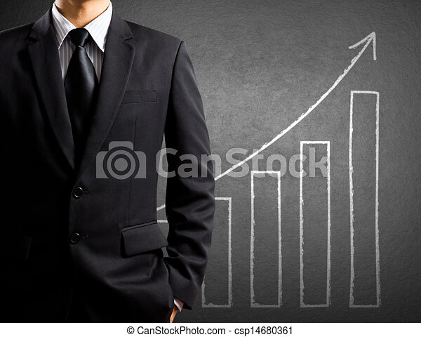 Business man and growth chart - csp14680361