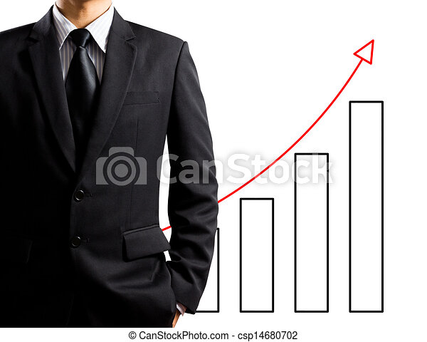 Business man and growth chart - csp14680702
