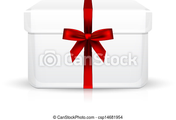 gift box with red ribbon - csp14681954