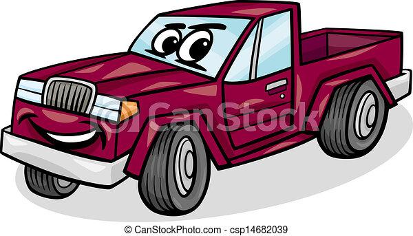 Cartoon Pickup Lines Pickup Car Character Cartoon
