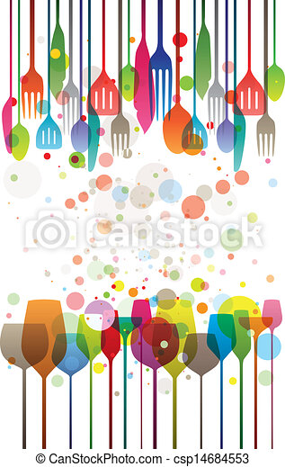 Colorful Dinner - csp14684553