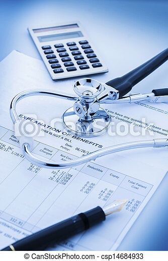 Cost of health care - csp14684933