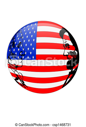 Presidents Day American Flag Orb is - csp1468731