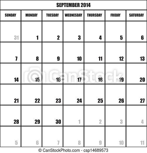 September Calendar Calendar Planner September