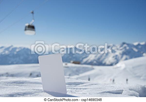 Winter sport ticket theme