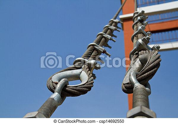 Wire rope bridges. - csp14692550