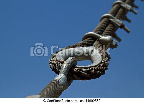 Wire rope bridges. - csp14692559
