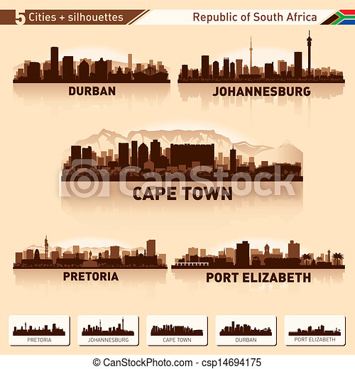 City skyline set South Africa - csp14694175