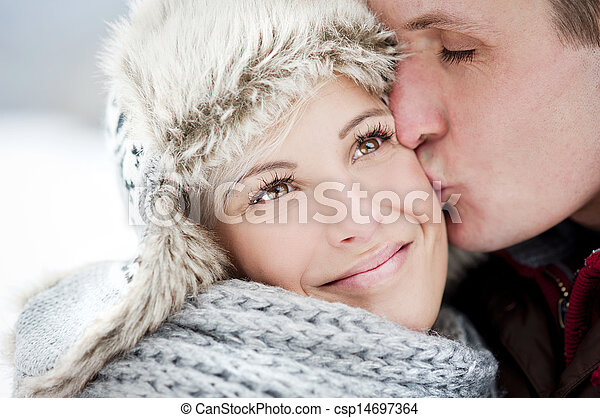 Couple in winter - csp14697364