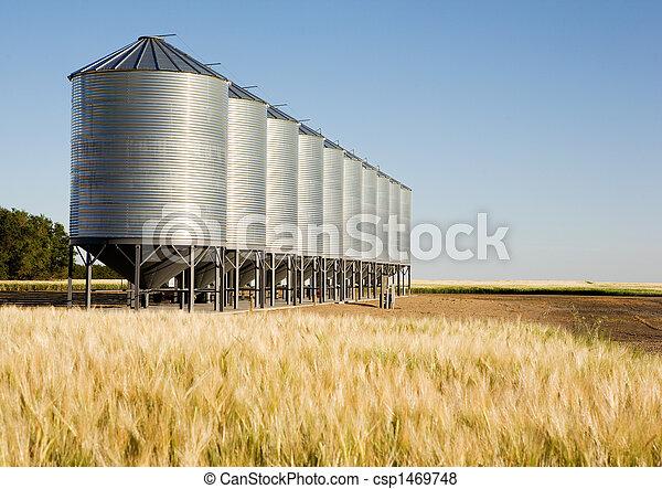 Metal Grain Bin - csp1469748