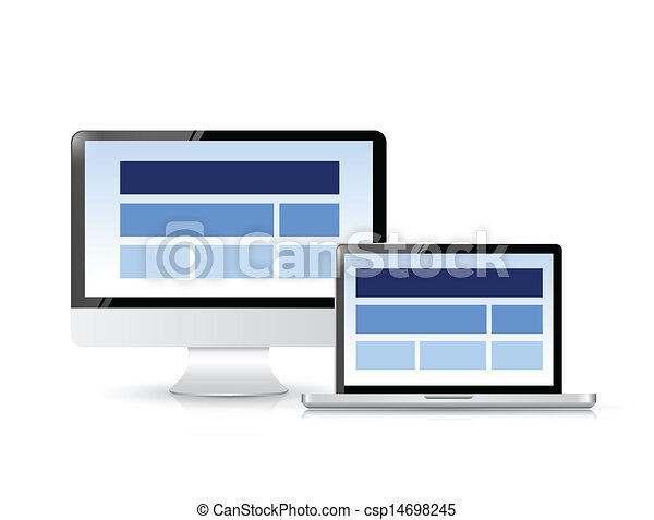 website layout on a computer screen. - csp14698245
