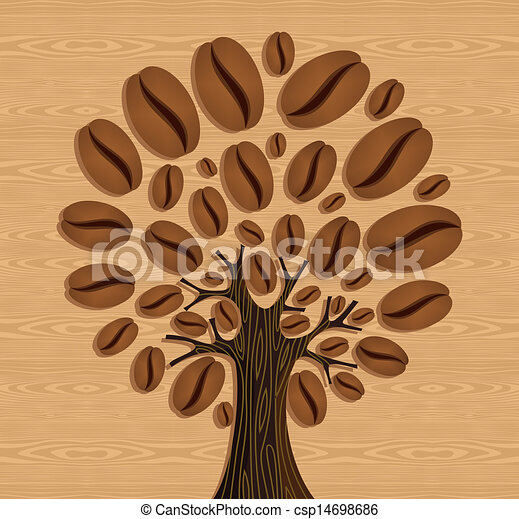 Coffee Bean Tree Drawing Coffee Beans Tree Coffee