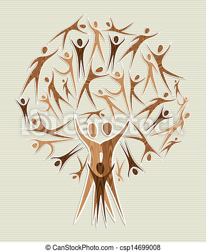 tree set - Family human shapes conceptual... csp14699008 - Search Clip ...