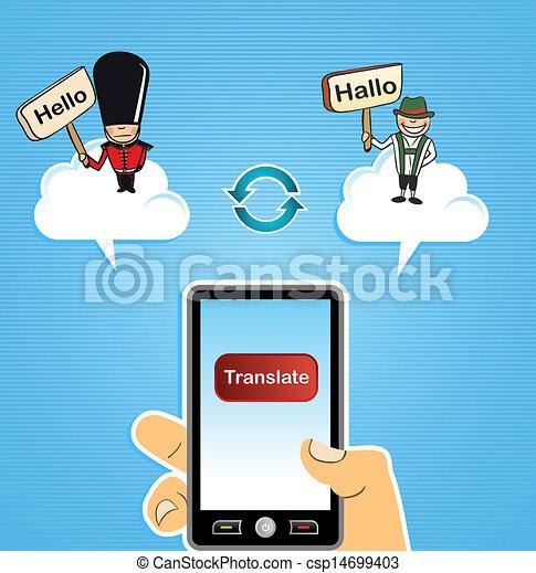 雲, 計算, 翻訳しなさい, 概念 ...