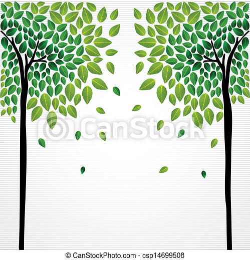 Vector clipart of cute concept trees drawing cute for Cute tree drawing
