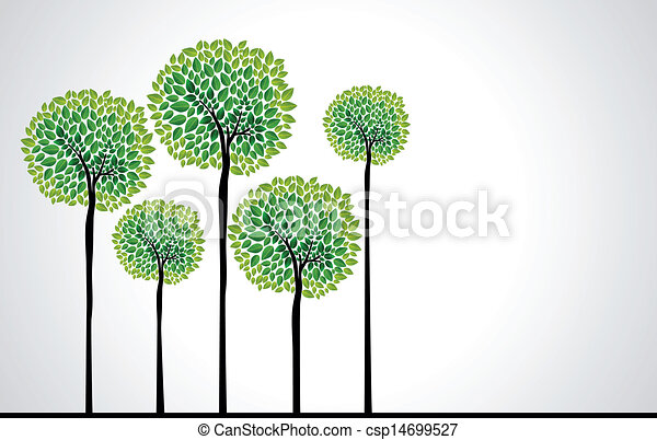 Easy Forest Tree Drawing Cute Green Tree Forest Design