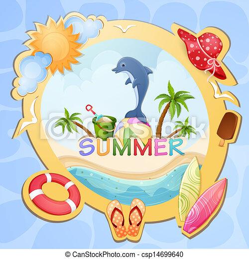 Summer holiday illustration - csp14699640