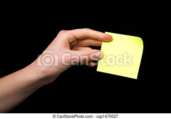 Sticky Note in Hand - csp1470027