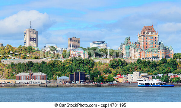 Quebec City skyline - csp14701195