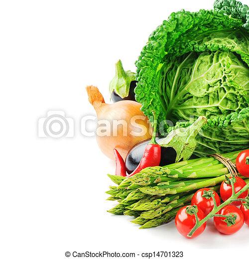 Fresh organic vegetables - csp14701323