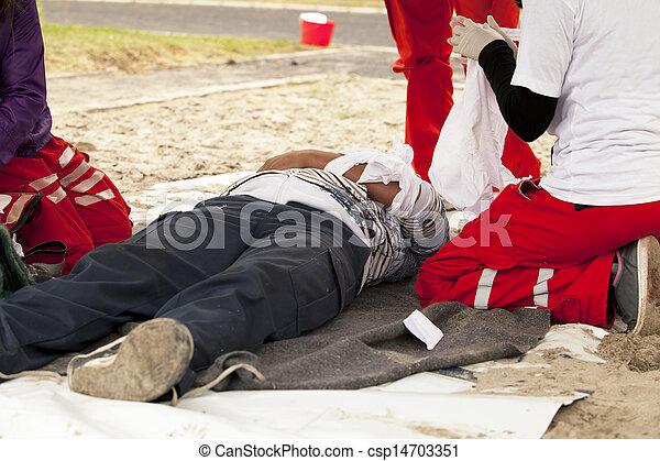 first aid training - csp14703351