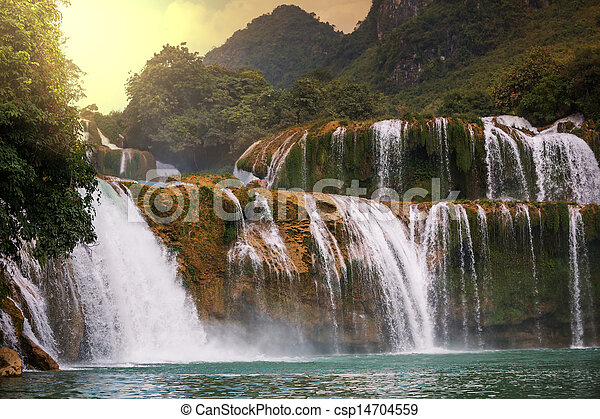 Waterfall in Vietnam - csp14704559