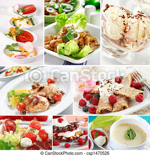 Gourmet food collage - csp1470526