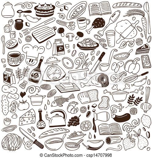 Eps vectores de doodles cocina cocina doodles for Programas de dibujo de cocinas gratis