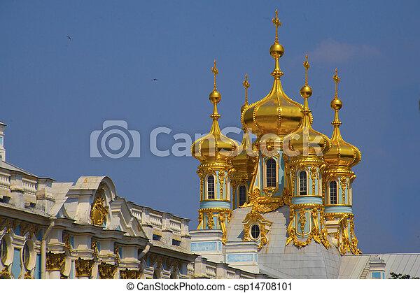 Catherine's, Palácio, em,  Tsarskoe,  Selo,  (Pushkin),  rússia - csp14708101