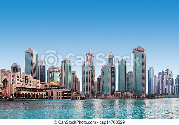 A general view of a residential area of Dubai, UAE - csp14708529