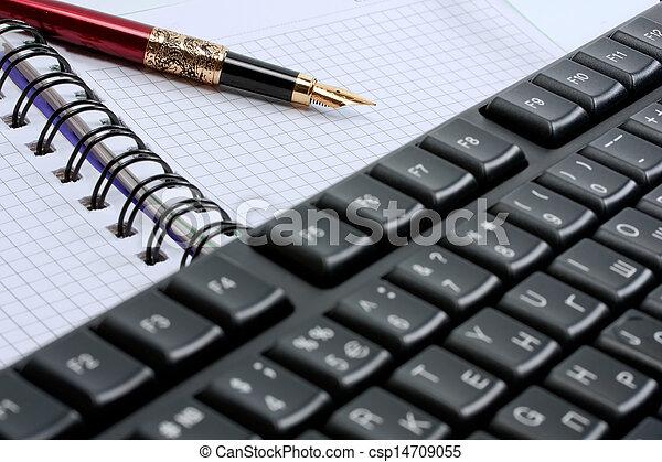keyboard, note pad