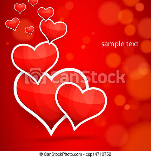 Clipart Vector of Abstract vector background. Multilayer hearts ...