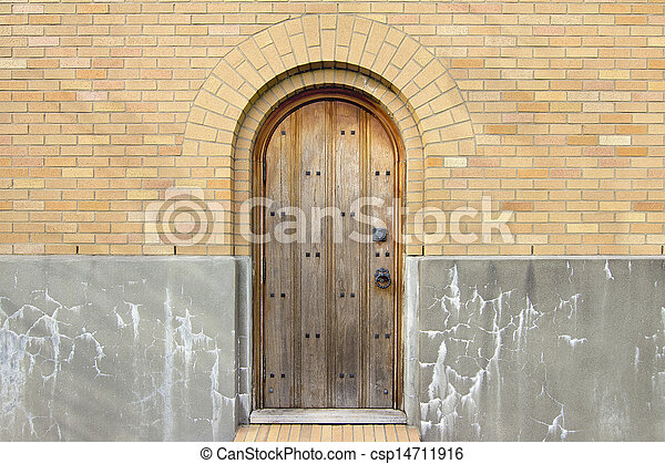 Old Church Exterior Wood Door - csp14711916