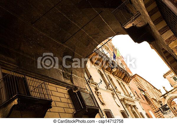 歴史的, 建築,  Verona - csp14712758