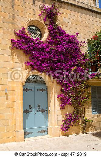 histórico, arquitetura,  mdina - csp14712819