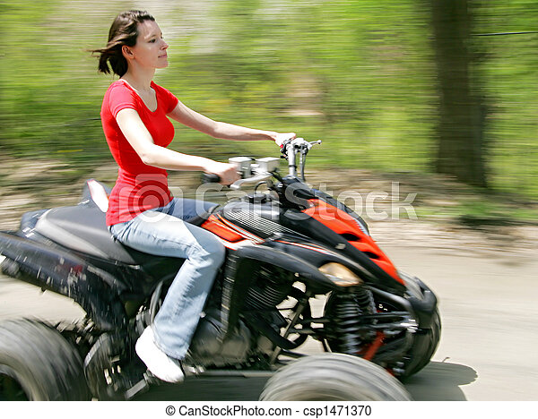 Woman Riding Four Wheeler