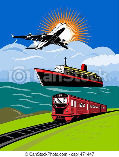Plane,train and ship - csp1471447