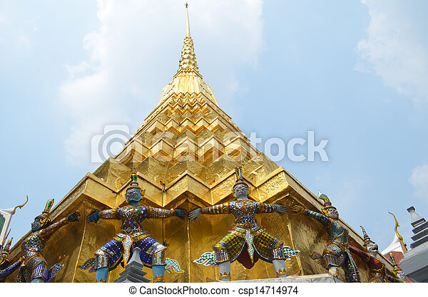 wat phra kaew the most famous landmark - csp14714974