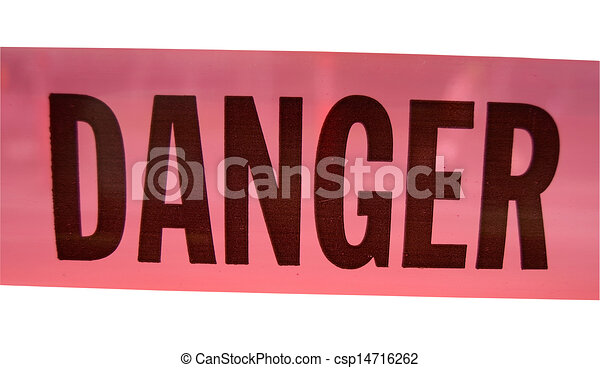 Isolated Danger Sign - csp14716262