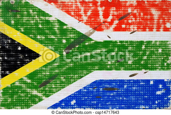 Grungy Flag Of South Africa - csp14717643