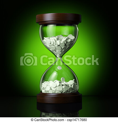 pharmaceutical business on green ba - csp14717680