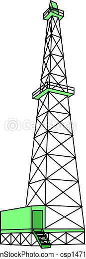 Clipart Vector of Oil Rig. Vector csp14718458 - Search Clip Art ...