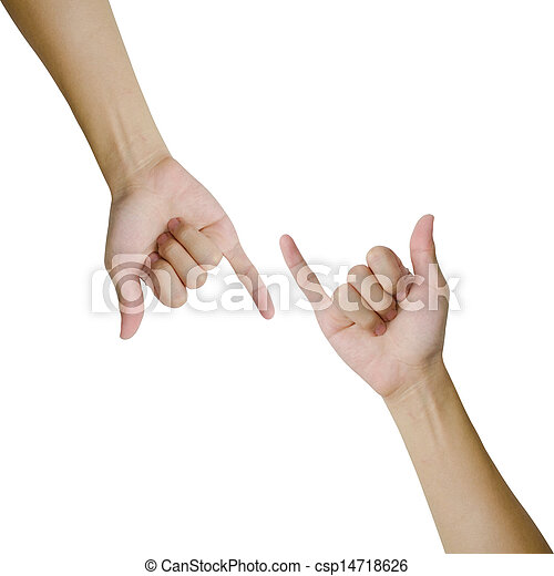 Isolated hands making promise - csp14718626