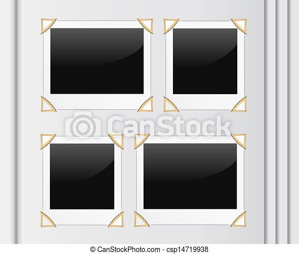 Vectors of Photo album page, vector eps10 illustration csp14719938 ...