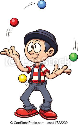 Vectores de malabarista caricatura cartoon juggler - Image jongleur cirque ...