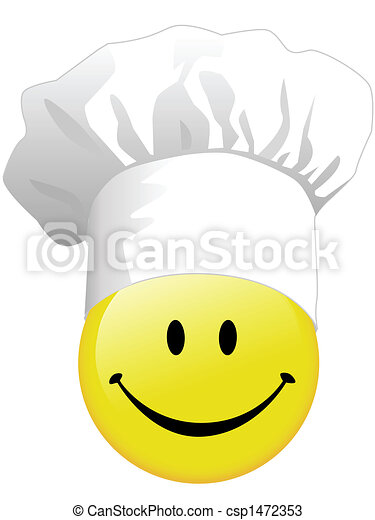 Joy of smiley face cooking in happy - csp1472353